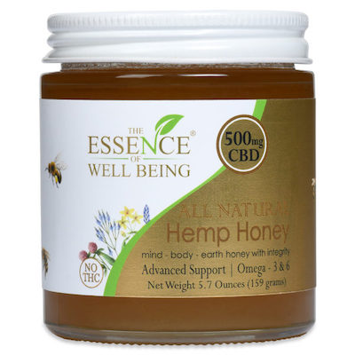 Essence of Wellbeing Hemp Honey 500mg